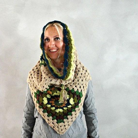 Capucha bufanda Crochet la bufanda con capucha para mujer | Etsy