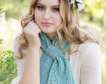 Chantilly Lace Ascot PDF Knitting Pattern Instant Download (ENGLISH ONLY)