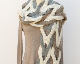 Challah Infinity Scarf Pdf Knitting Pattern Instant