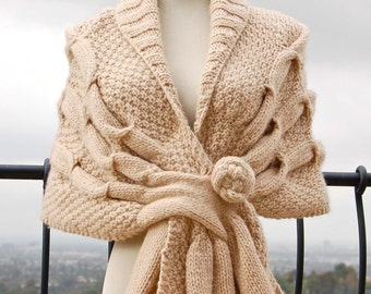 Oscillating Wrap PDF Knitting Pattern Instant Download (ENGLISH ONLY)