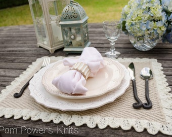 Heirloom Placemats PDF Knitting Pattern Instant Download (ENGLISH ONLY)