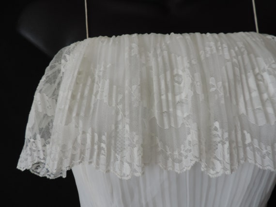 white lace dress 1970s romantic prairie maxi sundr