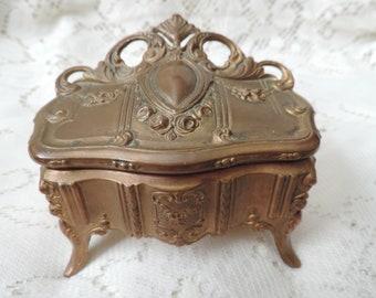 art nouveau jewelry box vintage gold jewelry casket