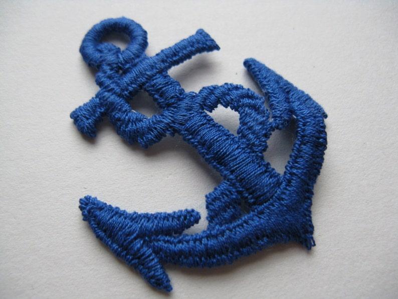 Blue anchor jacket patch vintage nautical trim sailor appliqué etsy