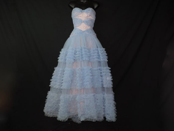 Wilhite Tulle Ruffled Gown
