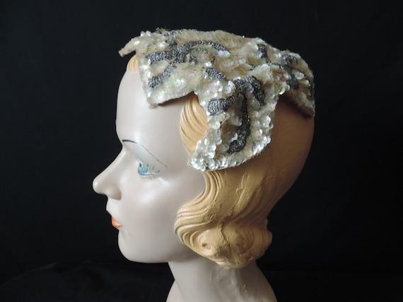 Rare Mid century WW II Prom Vintage 1930/'s-1940/'s Summer Hat* Cream Lace /& Silk Roses Party Wedding Very Unusual Retro