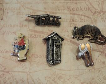 vintage hat pin lot vintage 1970s cowboy trucker lapel pin collection