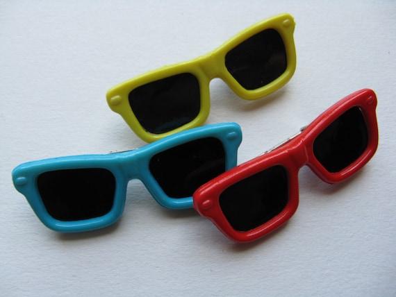 80 s lunettes de soleil broche vintage Memphis design cool nuances revers pin veste pin neuf ancien stock