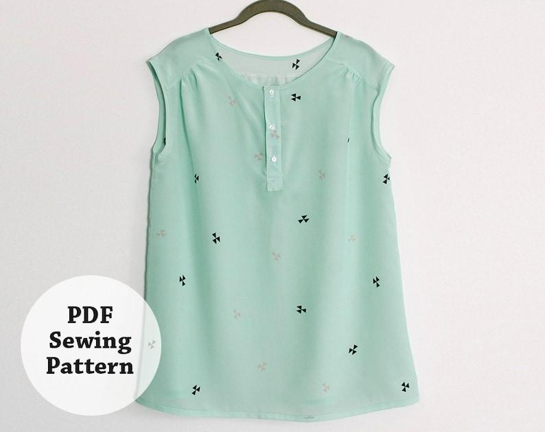 Mercer Tunic PDF Sewing Pattern Women's Apparel image 0