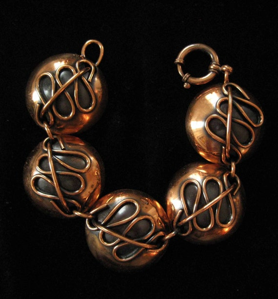 1940's Art Moderne Art Deco German Copper Bracelet