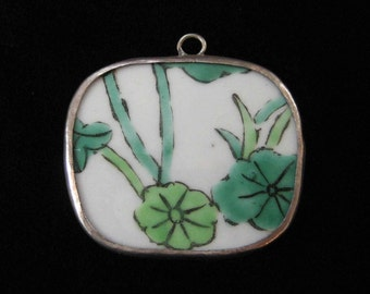 Antique Chinese Pottery Shard Pendant