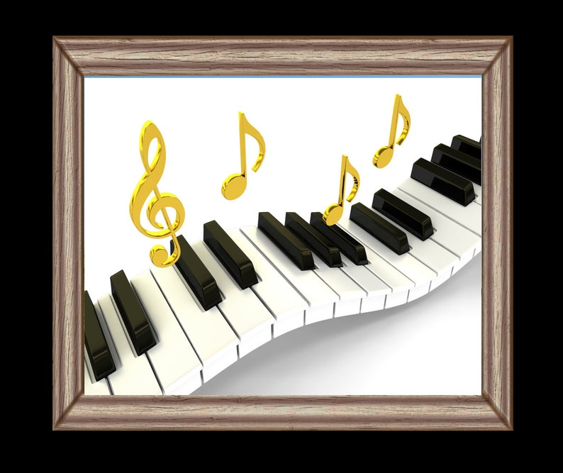 picture about Piano Keyboard Printable referred to as Rockin Piano Keyboard Artwork Instantaneous Obtain Artwork Printable Gold Songs Notes