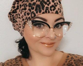 Scrub Hat - Nurse Hat - Leopard  Patterns