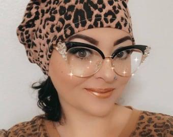 Scrub Hat - Nurse Hat - Leopard  & Plaid Patterns