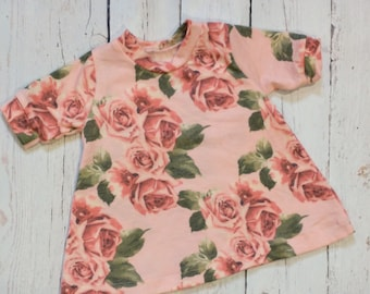 Pink Floral A-Line Tshirt Dress