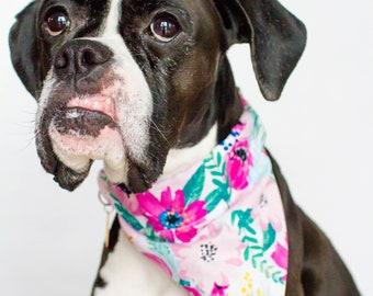 Dog Bandana- Spring Pink Floral
