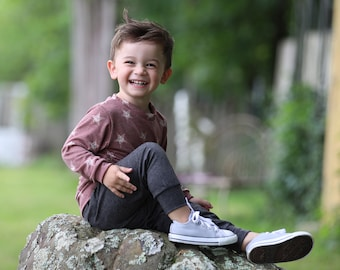 Boys Relaxed Joggers and Shirt- Brick Stars