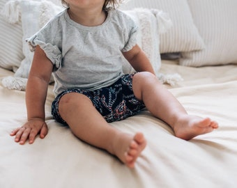 Relaxed Kids Shorts - Cuffed Shorts-Boho