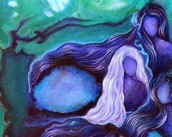 Mermaid art mermaid art print sisterhood art spiritual art | Etsy