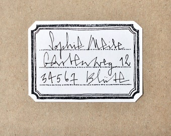 Rubber stamp: 3-line classic label