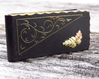 Vintage Black and Gold Money Clip