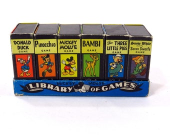 Vintage Walt Disney Library of Games 1946 Russell Mfg Mickey Mouse