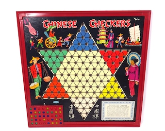 Vintage Whitman Chinese Checkers Game with Marbles