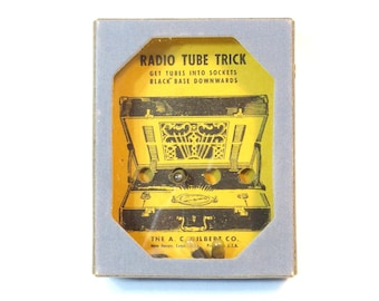 Gilbert Radio Tube Trick Dexterity Puzzle Vintage 1930s Hand Held Game