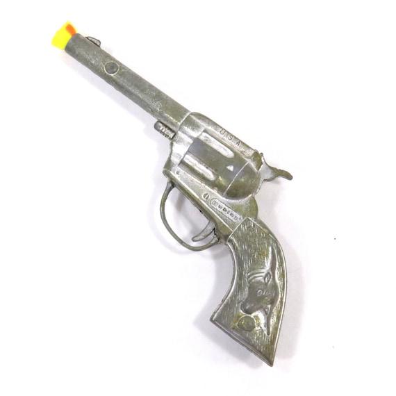 "Vintage 1950's Hubley ""Tex"" Metal Cap Gun Toy with Working Action"