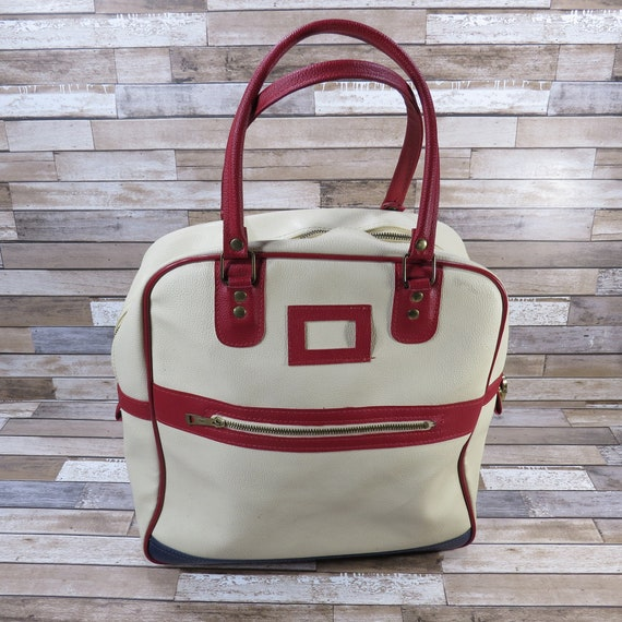 Red White and Blue Tennis Racquetball Bag Vintage