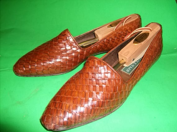 Vintage Cole Haan Italian Leather Hand Woven and H