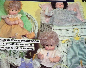 Complete Baby Doll Wardrobe Pattern in 3 Sizes Original