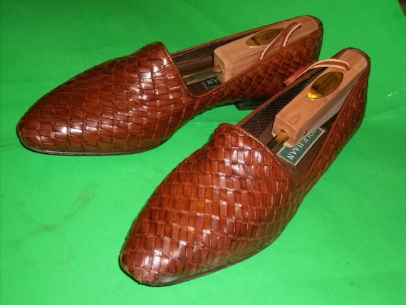 Vintage Cole Haan Italian Leather Hand Woven and … - image 3