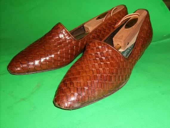 Vintage Cole Haan Italian Leather Hand Woven and … - image 2