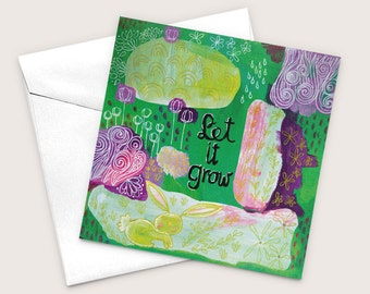Floral Greeting Card, Baby Shower Card, Art Greeting Card, Blank Cards, Friendship Card, Encouragement Card, Recycled Greeting Card