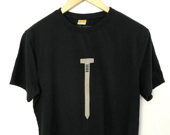 Men's T shirt/Bamboo Clothing/Organic Bamboo for Men/Organic Cotton for Men/Maude Andrade/Nail T shirt Black/New Mexico