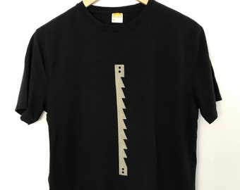 Men's T shirt/Bamboo Clothing/Organic Bamboo for Men/Organic Cotton for Men/Maude Andrade/Saw blade  t shirt Black/New Mexico