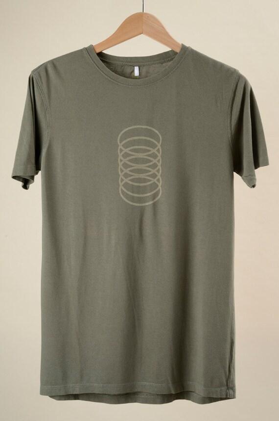 Men's T shirt Organic BambooCotton Slinky Graphic Green Tea