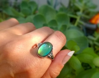 Natural Blue Chalcedony Ring For Woman Gold Plated Round Shape Victorian Jewelry Size 5,6,7,8,9,10,11,12