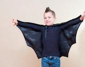 Handmade Child Cape Bat  Costume Scary Halloween Photo Prop Black or Pink Children Kids