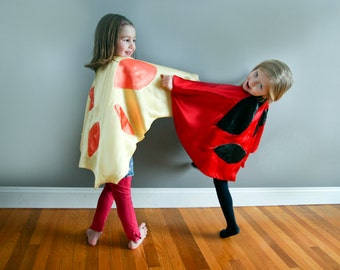 Party Pack 6 capes Child Toddler Kids Your Choice Ladybug Butterfly Bat Vampire Witch Super Hero Devil AngelPrincess RedRiding  Hood