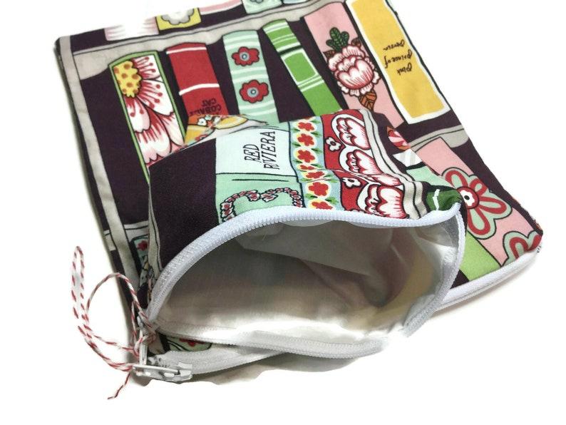 Zipper Sandwich Snack Bags set of 2 Book Lovers
