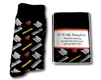 teacher gifts for men male thank you teacher socks instructor gifts male tutor gift mentor gift crew socks for men teacher christmas