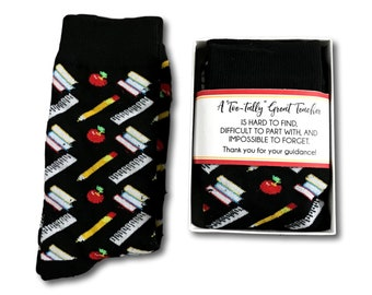 men teacher gifts thank you teacher socks gift box male tutor gift mentor gift crew socks for men teacher christmas gift appreciation