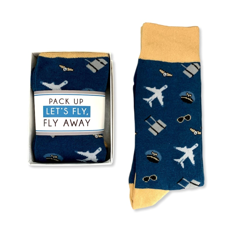 Airplane Gifts Airplane socks Wanderlust Gift for him Tourist Gift Airplane lover Travel Lover Gift for her Adventure tourism gift