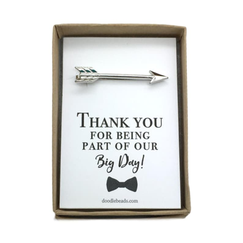 Arrow tie bar silver or gold arrow tie clip for the groom Father of the Bride Gift Father of the groom for the best man Groomsmen