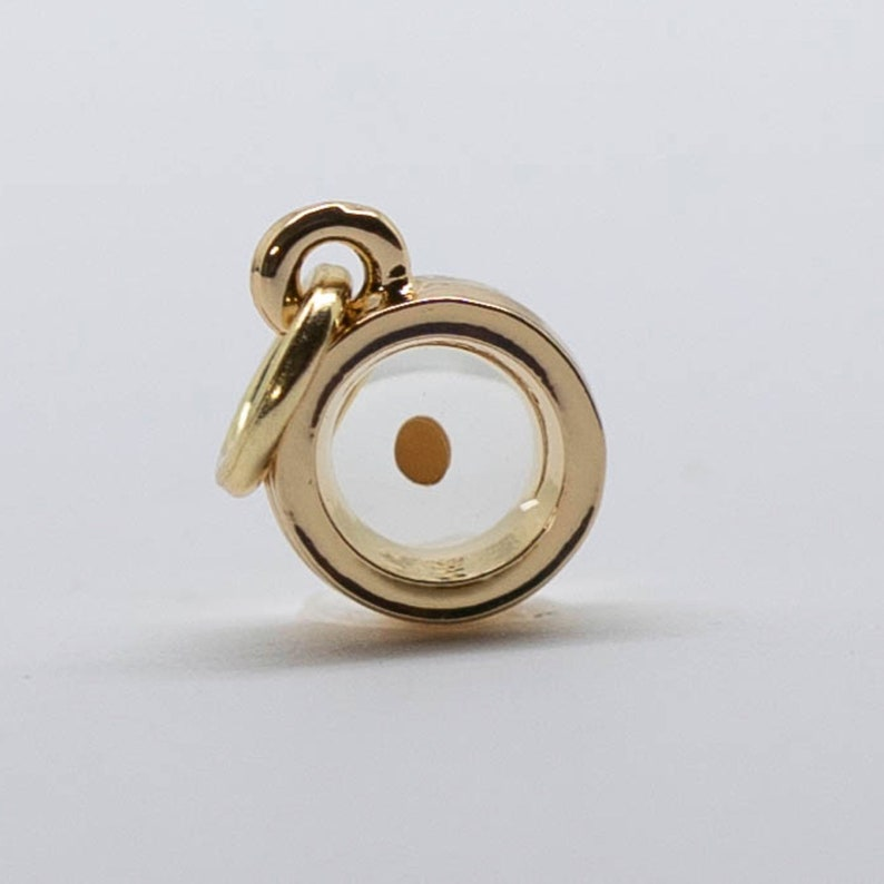 Mustard Seed charms  silver mustard seed charms  gold round real 18K gold