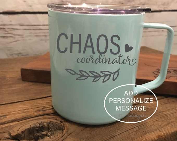 Chaos Coordinator Coffee Mug Wedding Planner Gift Idea Wedding Gift Gift For Her Coffee Cup Double Insulation
