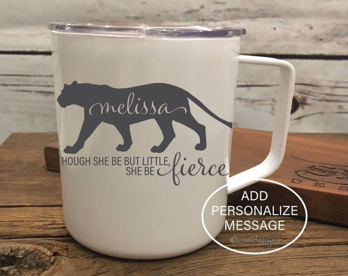 Personalized Name Fierce Coffee Mug Wife Gift Idea Fierce Coffee Cup Double Insulation