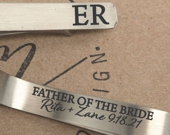 Personalized Father of the Bride Gift Father Of The Bride Tie Clip Father of the Brides Parent Gift Personalized Father of Bride Tie Clip
